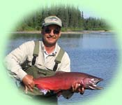 King salmon catch
